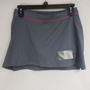 Adidas Gray and Pink Tennis Fitness Skort